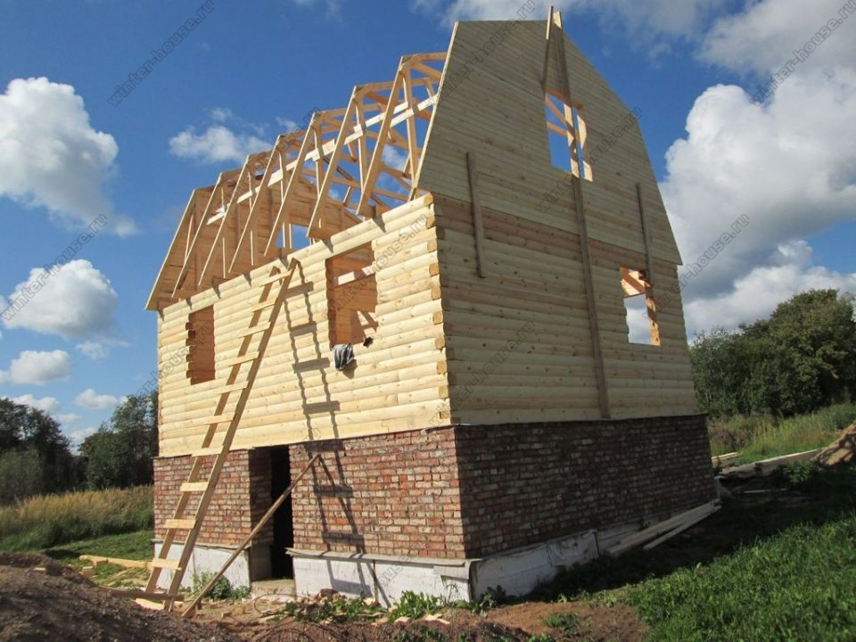 Строительство домов из профилированного бруса во Владимирской области фото2