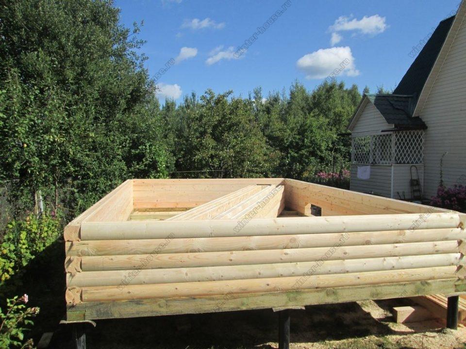 Строительство бань из бруса в Туле фото1