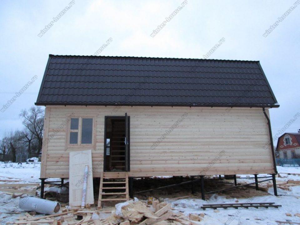 Строительство домов из профилированного бруса в Смоленске фото1