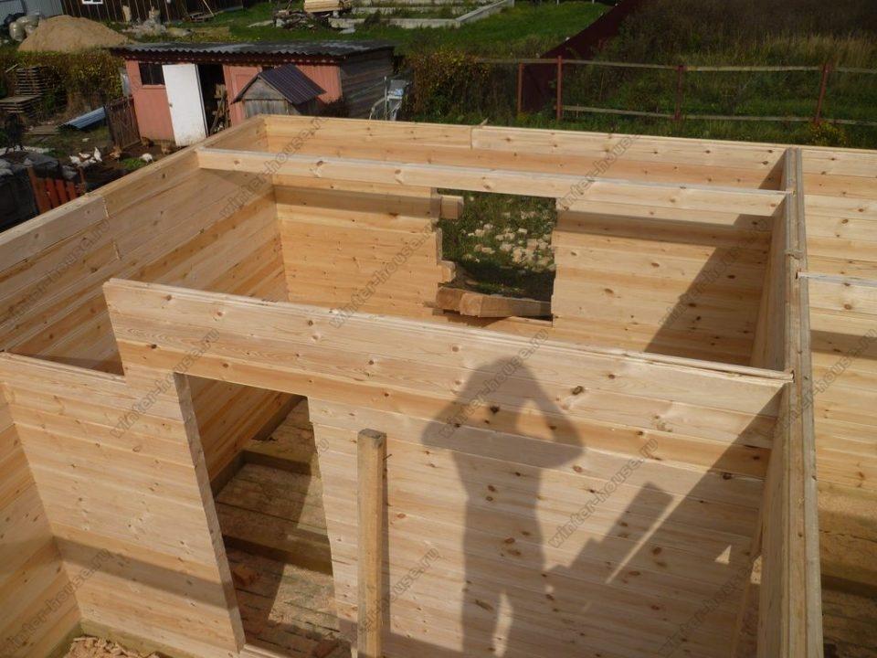 Строительство домов из бруса под усадку в Москве фото2