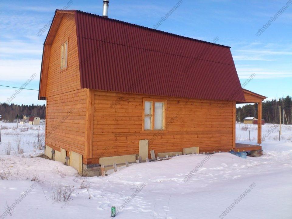 зимние дома из бруса под ключ недорого для постоянного проживания
