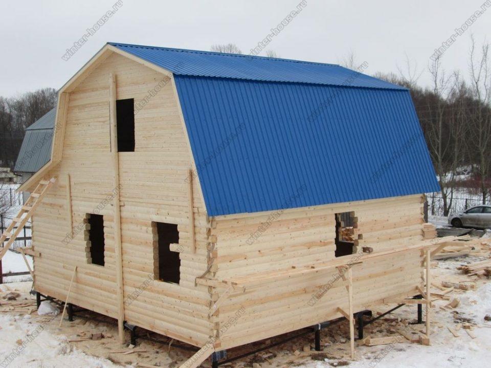 Дома из бруса под усадку в г Пестово