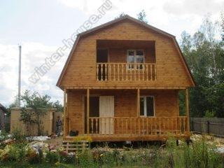 Дом из бруса 6 на 6 с ломаной крышей