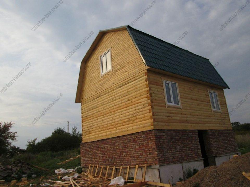 Зимние дома из бруса под ключ проекты и цены в Подмосковье фото3
