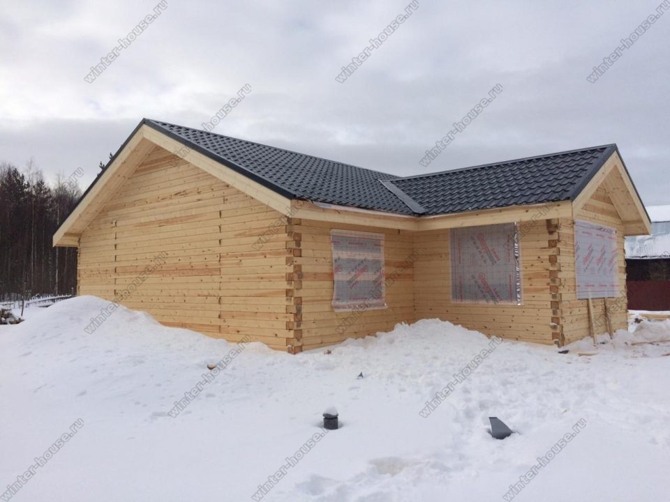 одноэтажные дома из бруса финские с верандой
