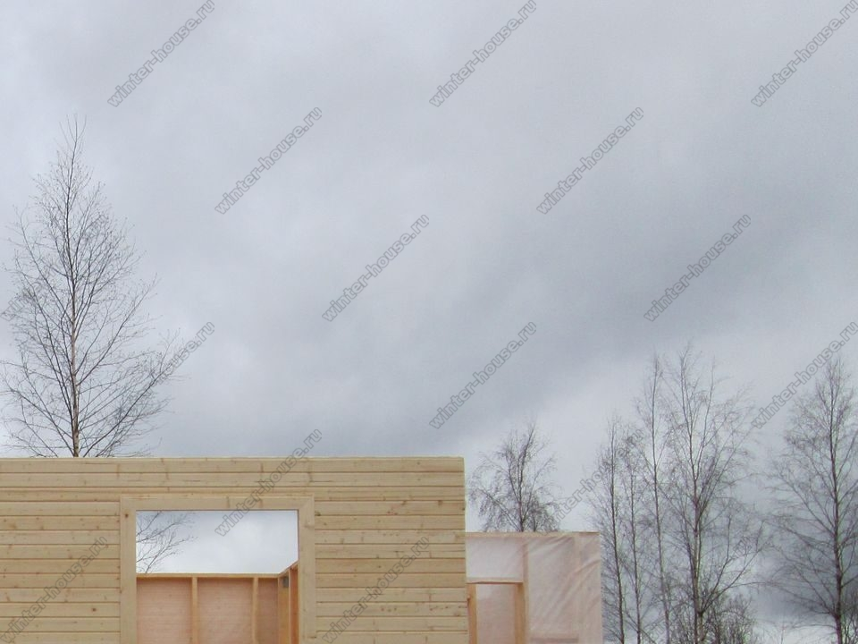 каркасный дом построенный в г Спасск-Рязанский фото