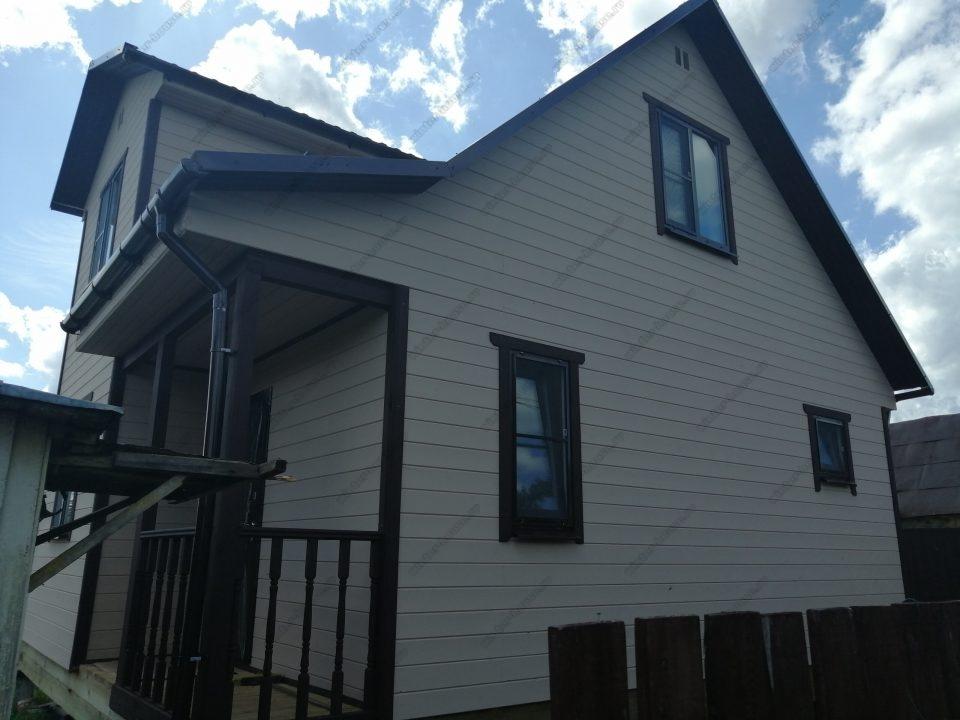 Фото построенного деревянного дома 7 на 9