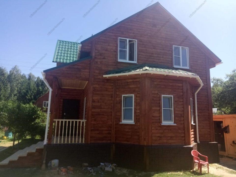 Фото дома из профилированного бруса 8 на 10
