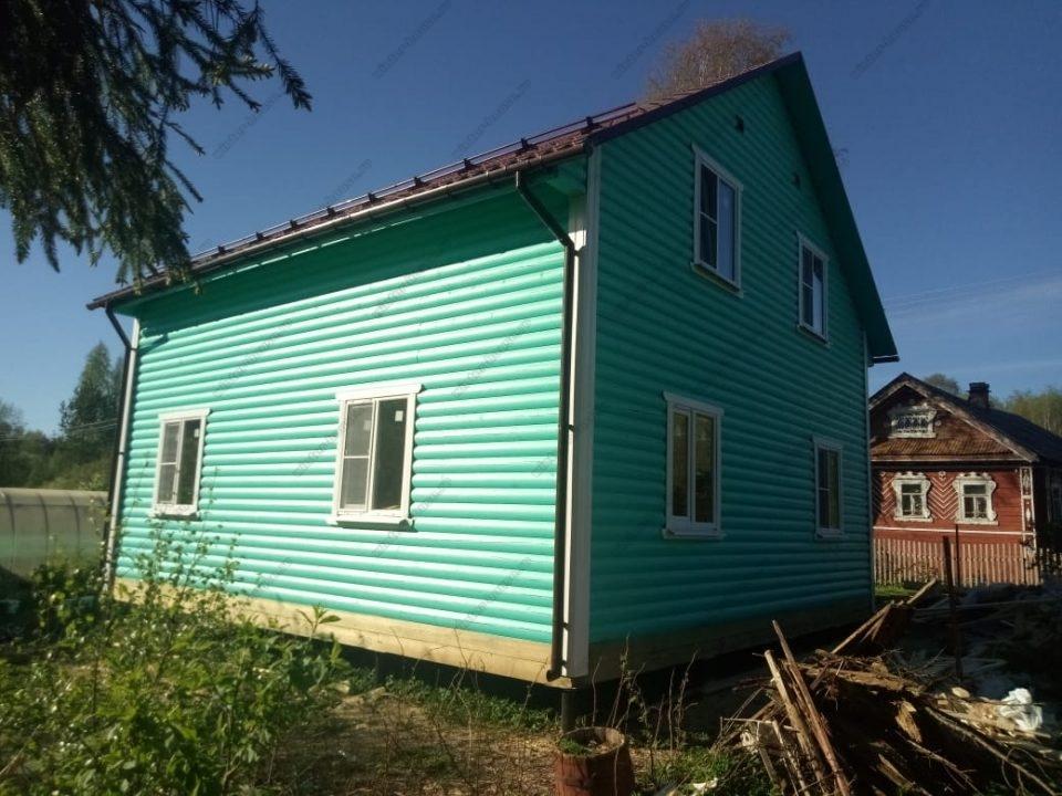Фото нового каркасно-щитового дома