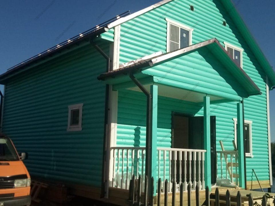 Фото постройки каркасного дома для постоянного проживания
