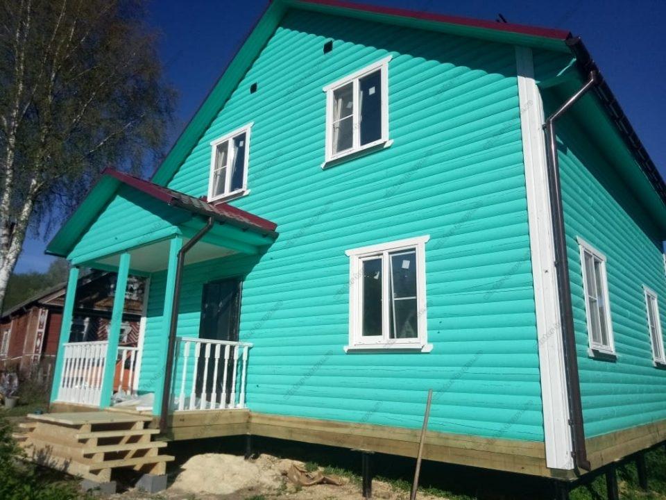 Фото строительства деревянного дома для проживания зимой