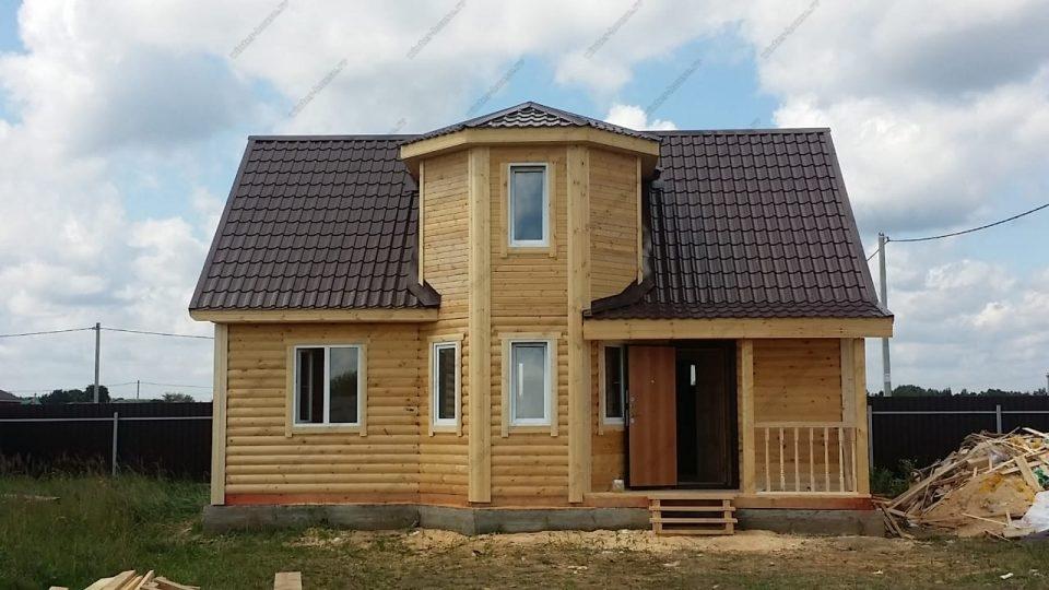 Брусовой дом для зимнего проживания