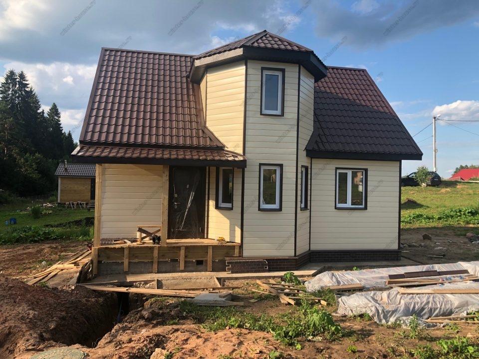 Фото строительства каркасного дома Новый Брод