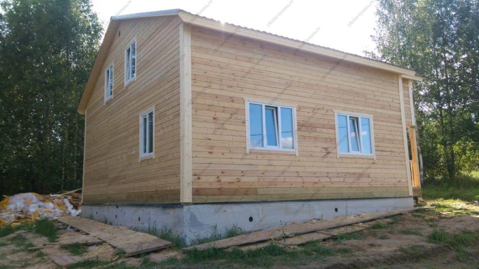 Проект дома из бруса для зимнего проживания