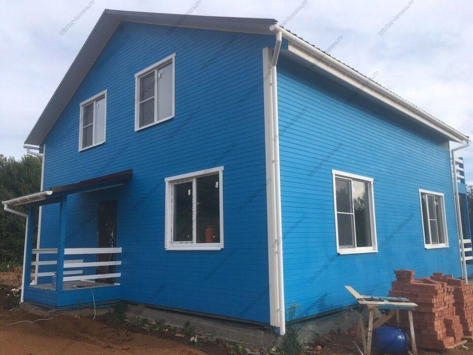 Каркасный дом 10 на 10 проект и фото