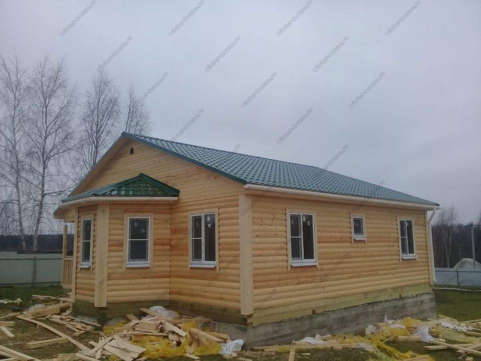 Фото и планировка дом из бруса с эркером один этаж