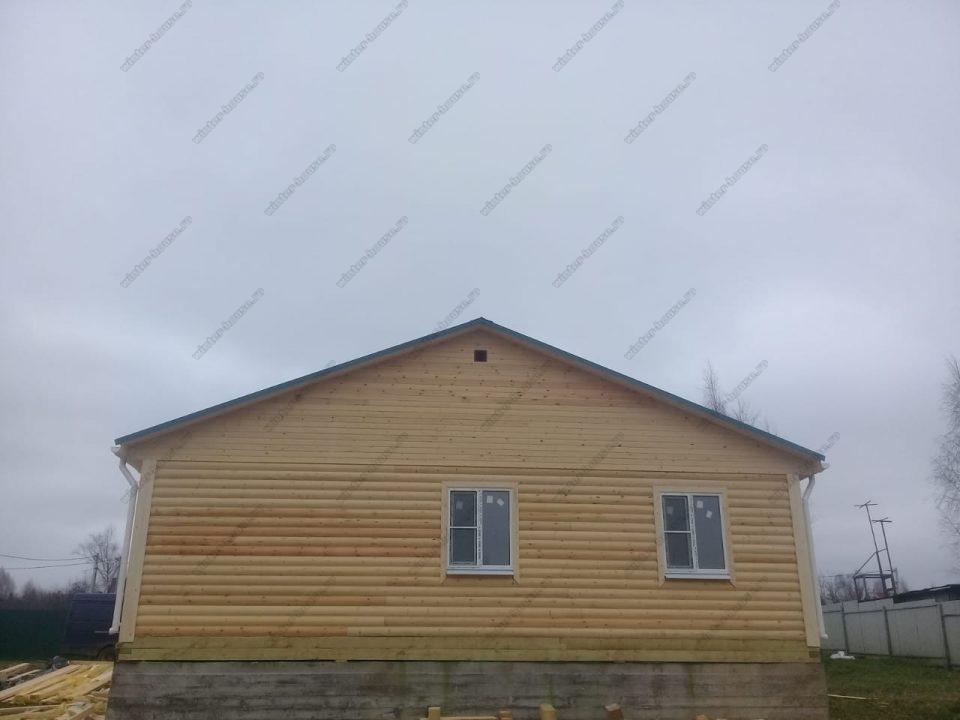 Фото дома 9х9 построенного из бруса под ключ