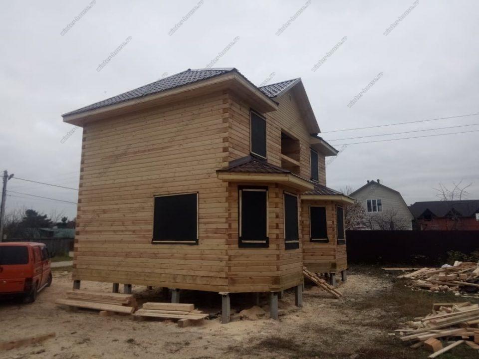 Строительство домов из бруса под усадку в Московской области фото и цены
