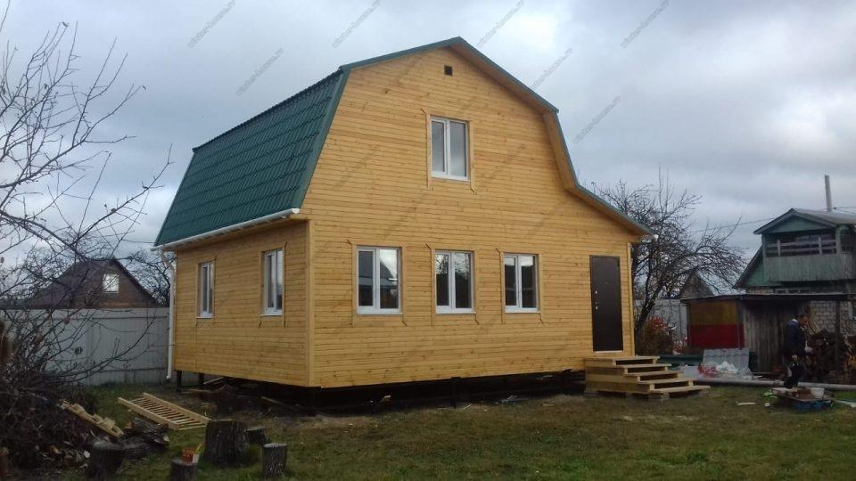 Фото строительства каркасного коттеджа в Ленинградской области