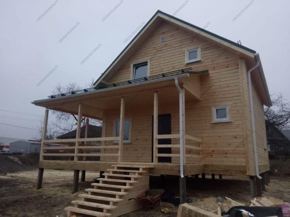 Проект дома 8 на 8 из профилированного бруса