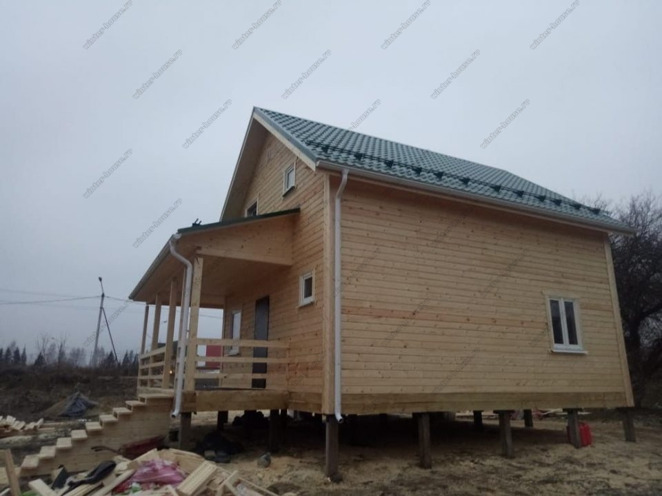 Фото строительство дома 8х8 в Московской области