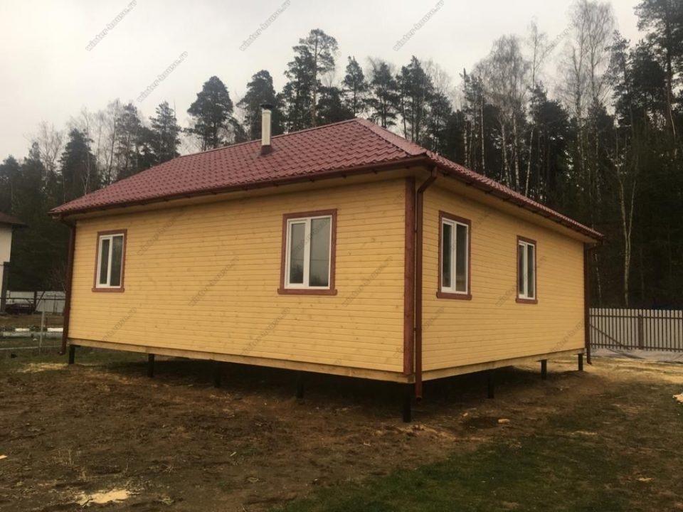Каркасный дом в вальмовой крышей фото с ценой