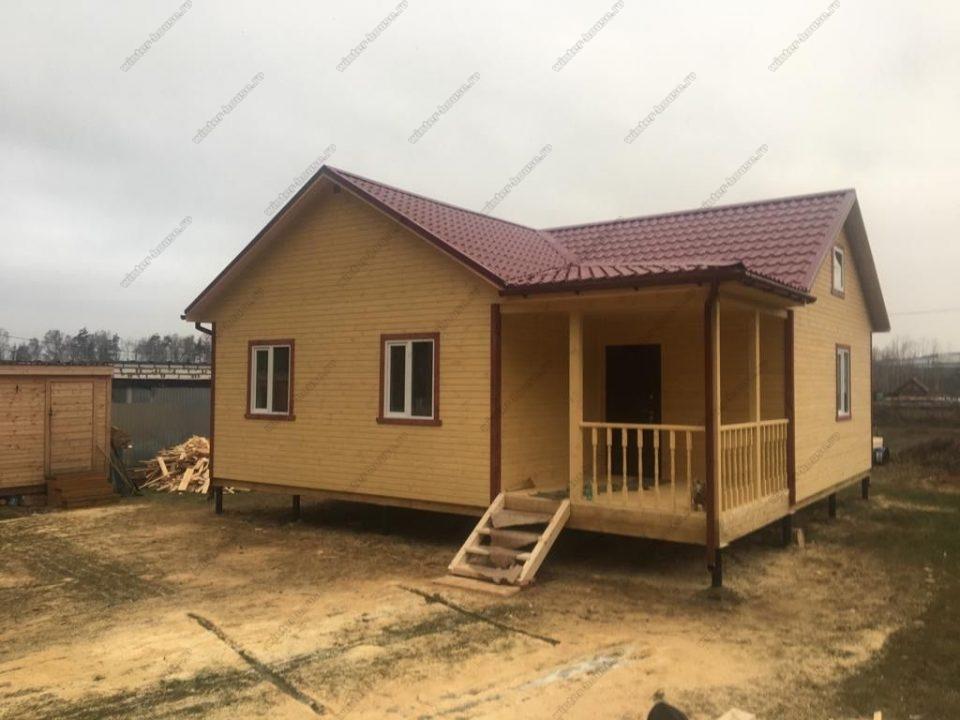 Одноэтажный каркасный дом 9х9 с террасой фото и цена