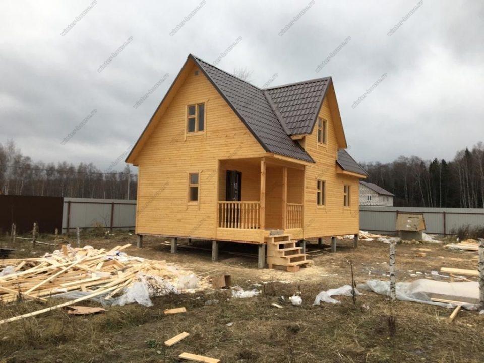 Фото каркасно-щитового дома 6х9 цена под ключ