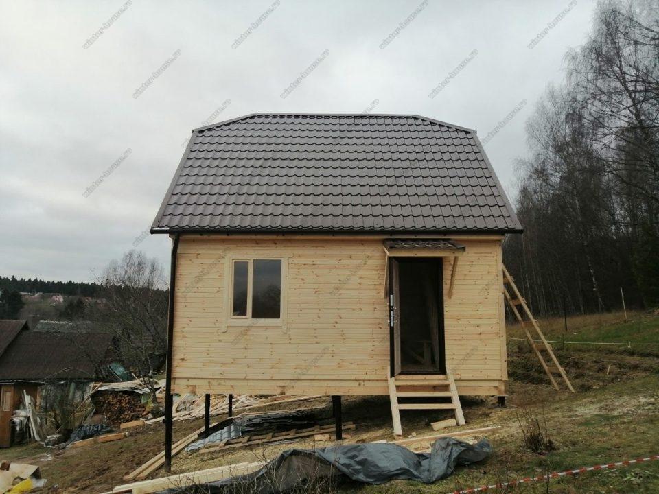 Фото строительства каркасного дома 6 на 6