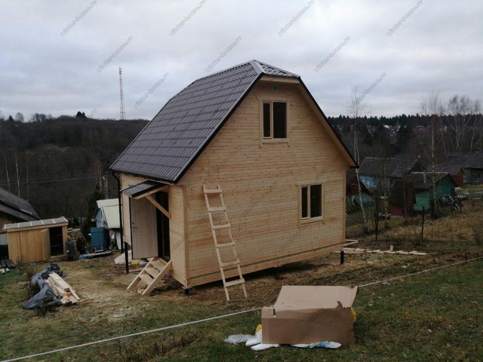 Проект планировка и фото дома 6х6 с мансардой