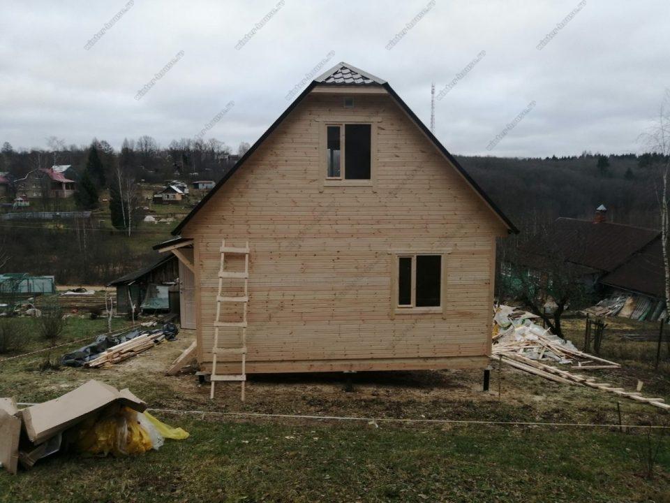 Фото и стоимость постройки каркасно-щитового дома 6х6