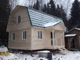 Проект дома 6х8 с мансардой из бруса удобная планировка с котельной