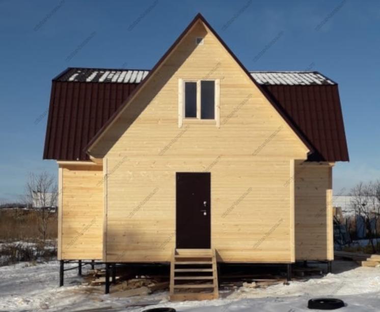 Строительство каркасного дома под ключ три фронтона