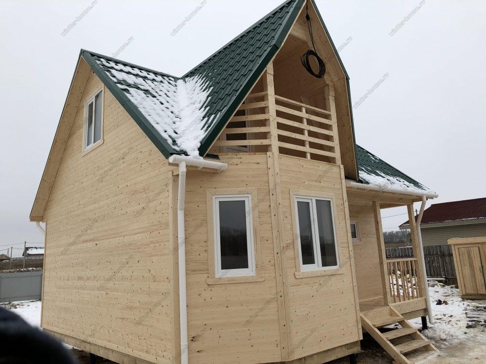 Фото строительства каркасного дома для проживания в Московской области