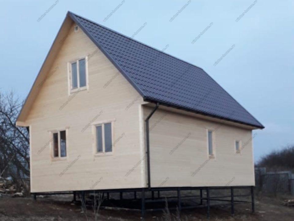 Фото строительства каркасного дома 6х9 с мансардой террасой и кукушкой