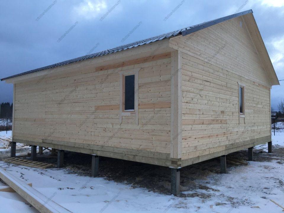 Фото деревянного одноэтажного дома для постоянного проживания