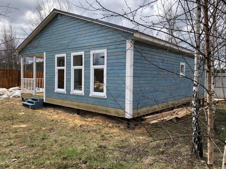 Фото строительства деревянного дома под ключ 9х9