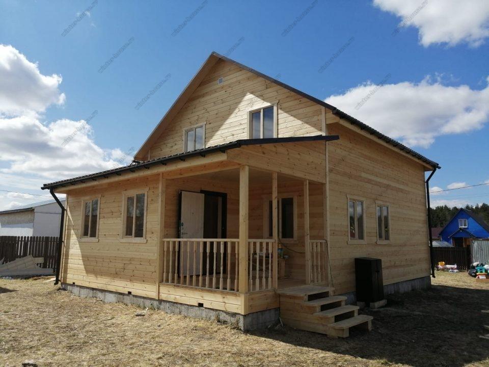 Фото строительства двухэтажного каркасного дома 10 на 11