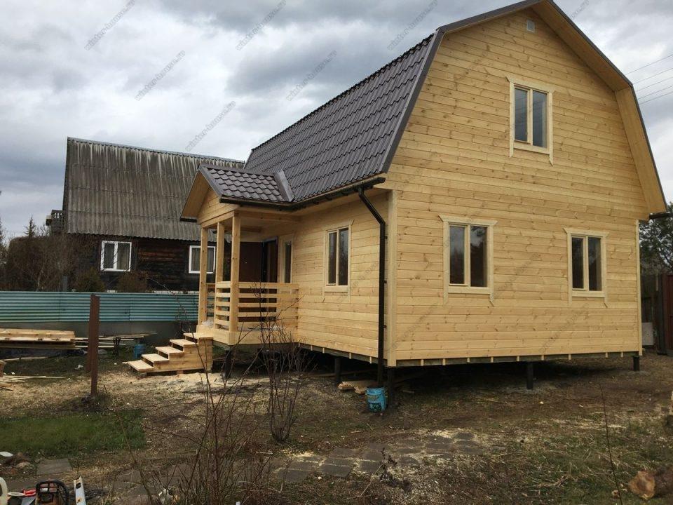 Строительство деревянных сборных домов под ключ 6 на 8