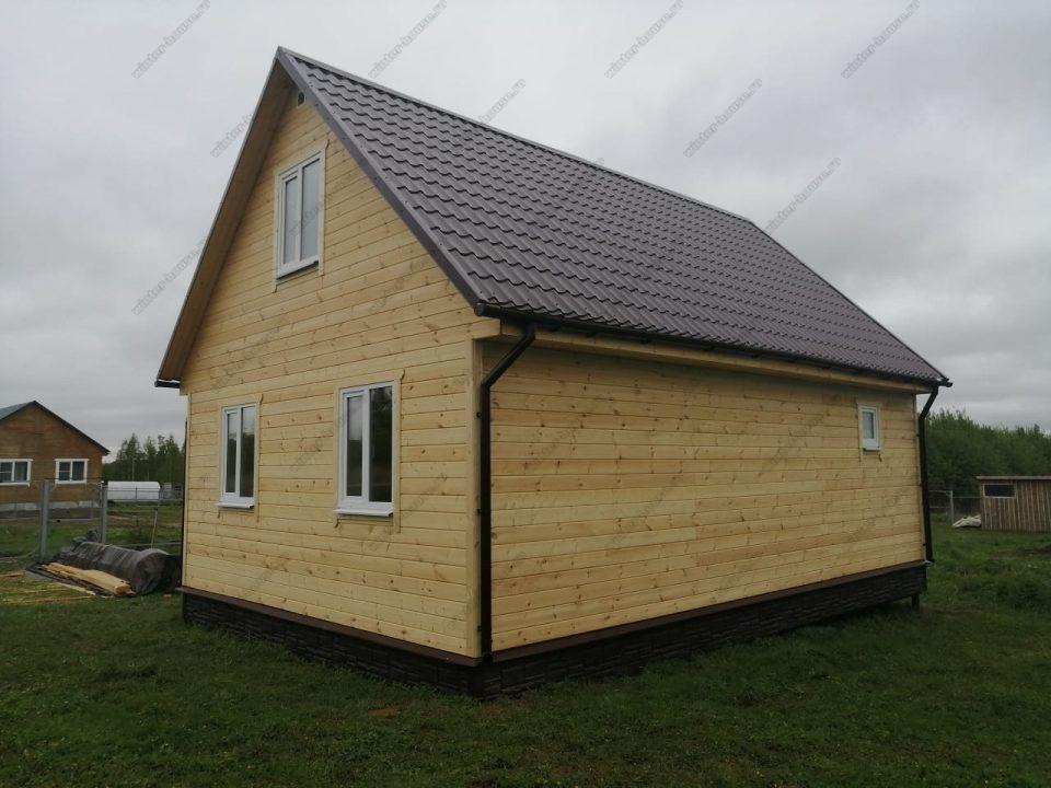 Фото каркасного дома с отделкой имитация бруса