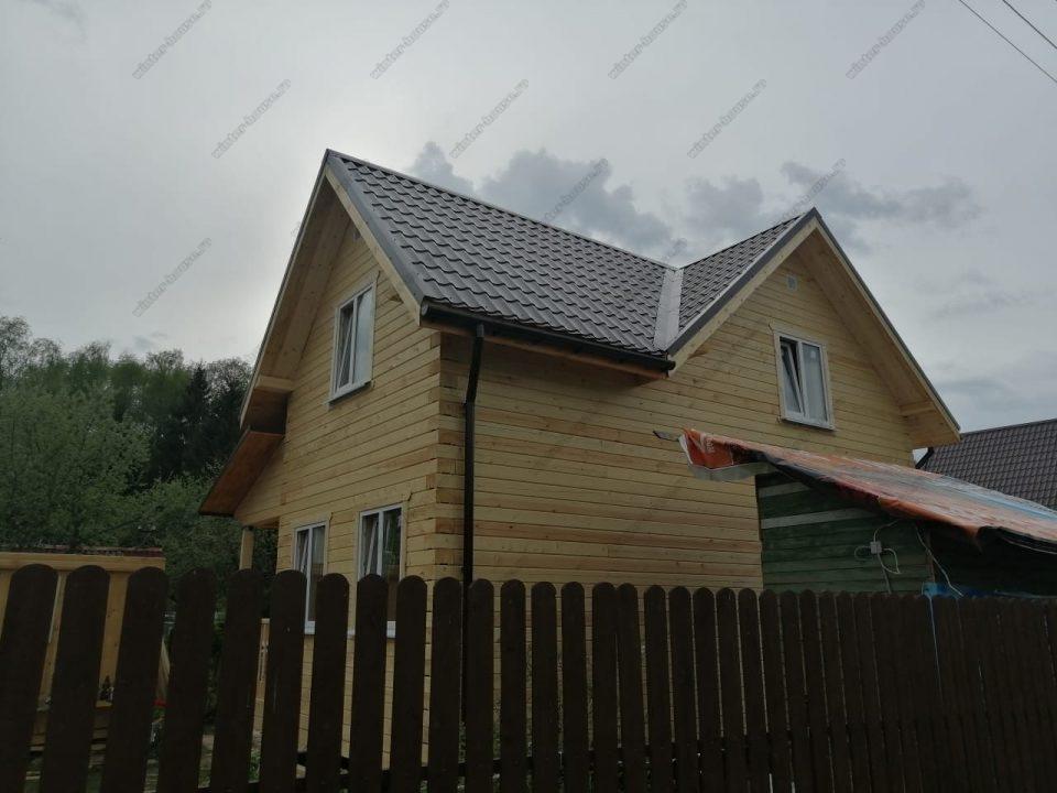 Фото строительства брусового дома 8х8 под ключ