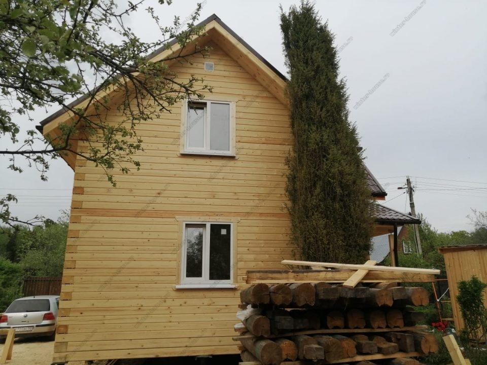 Фото строительства деревянного дома полтора этажа 8х8