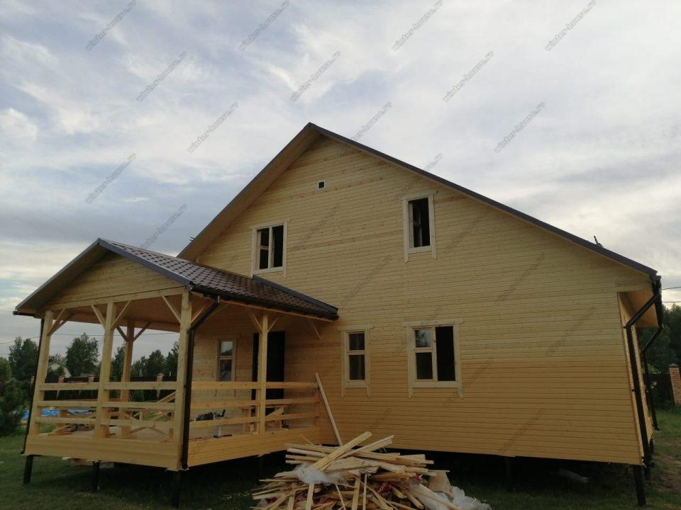 Фото двухэтажного дома 9х10 для зимнего проживания в Лен обл
