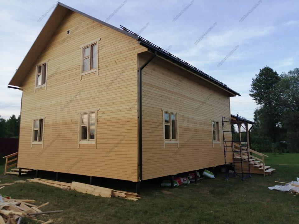 Фото строительства жилого дома с террасой цена и проект