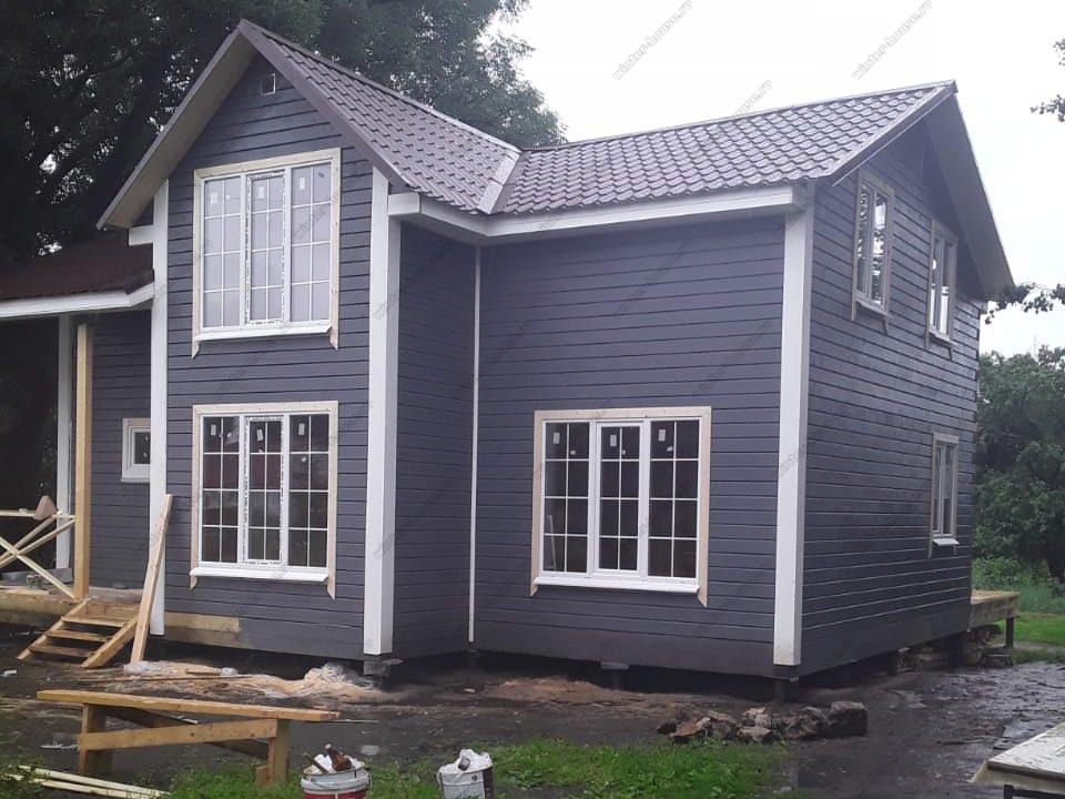Строительство дома 8х10 из бруса в д. Павелково