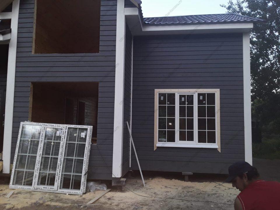 Большой деревянный дом 8 на 10 из бруса