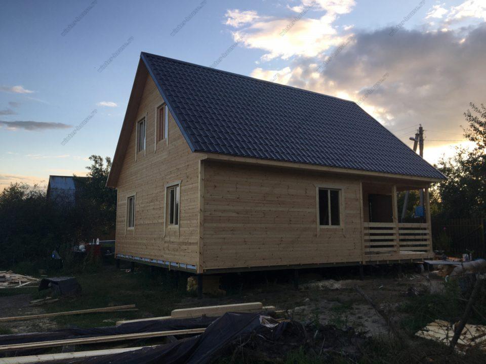 Дом для постоянного проживания с двухскатной крышей