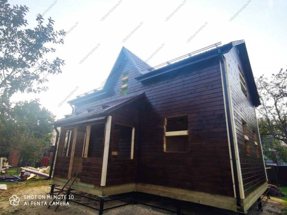 Брусовой дом под усадку для зимнего проживания