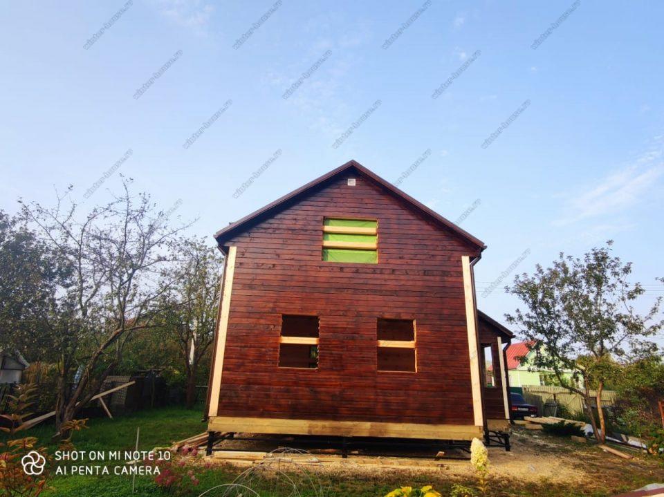 Двухэтажный дом из бруса без отделки 6 на 9