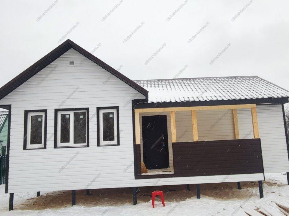 Фото одноэтажного каркасного дома 8на10